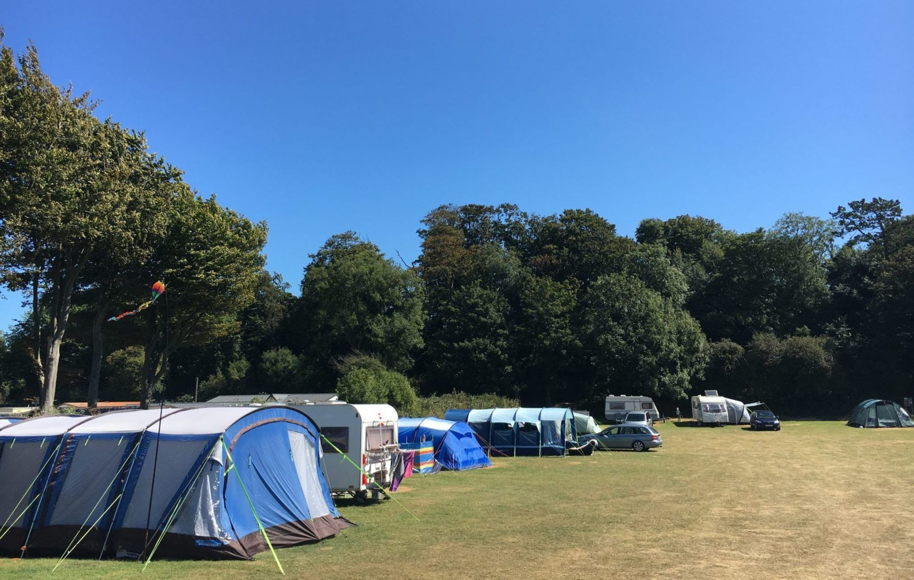 Kent camping for your tourer at sutton vale country park - Campsites in kent with swimming pool ...